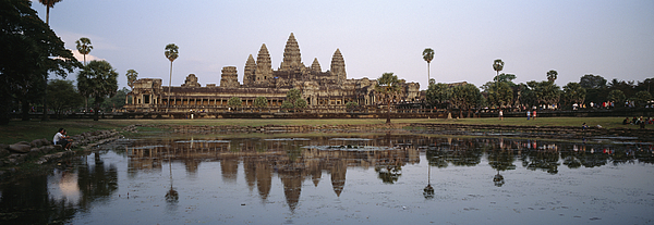 Asia Photograph - Angkor Wat, A Buddhist Temple by Justin Guariglia