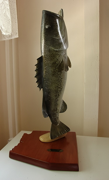 Largemouth Bass Sculpture - Angler Of The Year by Dos Artesanos