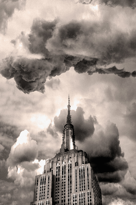 Empire State Building Photograph - Angry Empire by John W DeFeo