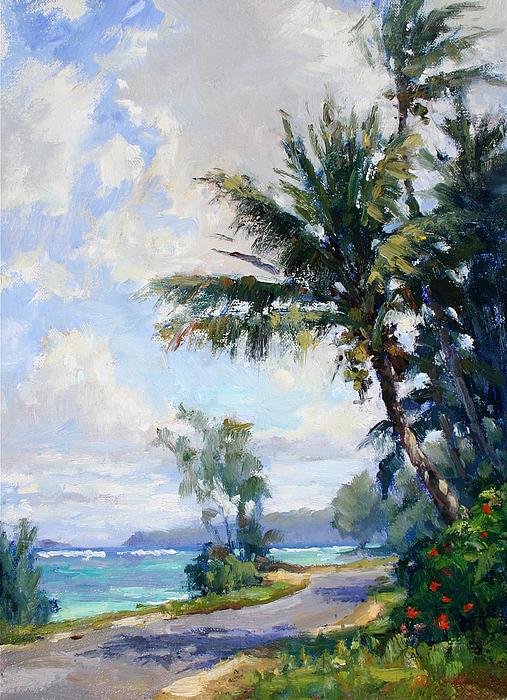 Landscape Painting - Anini Road by Jenifer Prince