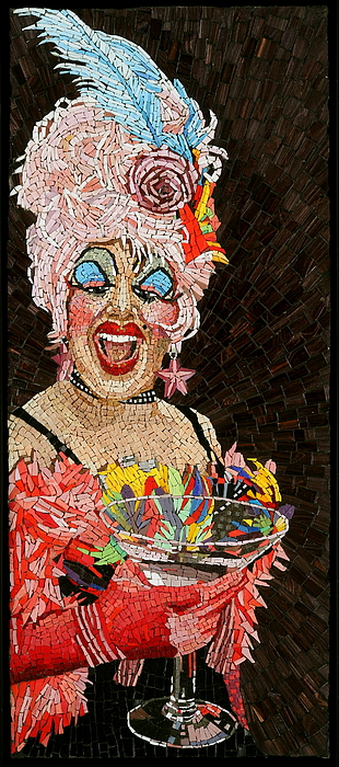 Drag Queen Painting - Anita Cocktail by Michael Kruzich