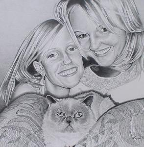Anna Erin And Jojo Drawing by Ben Liles