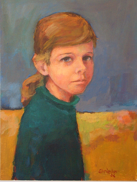 Grandchild Painting - Anna My Youngest Granddaughter by Alfons Niex