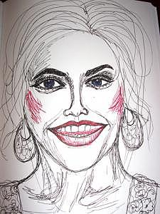Anna Nicole Drawing - Anna Nicole Smith by Caroline Lifshey