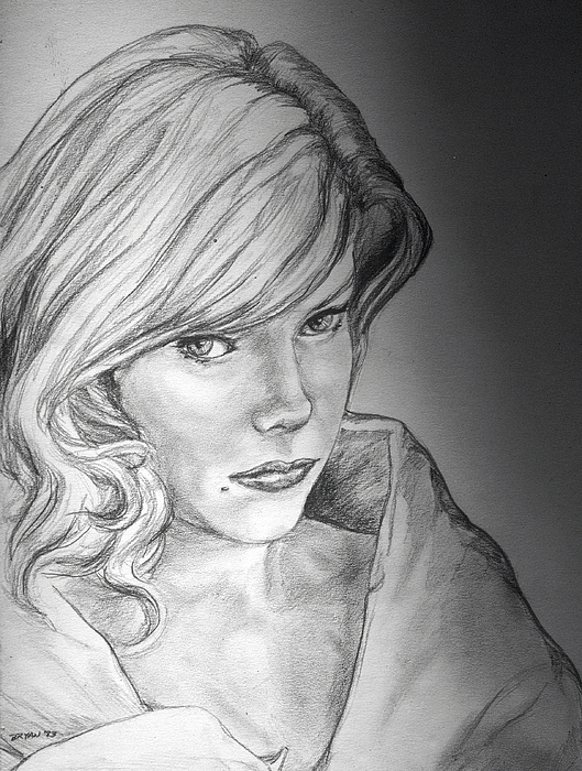 Anne Francis Drawing - Anne Francis by Bryan Bustard