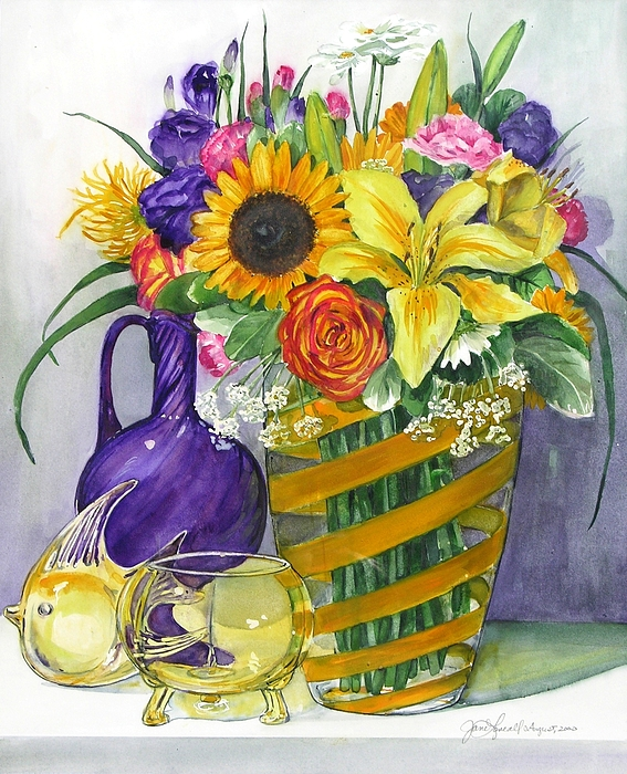 Still Life Painting - Anniversary Bouquet by Jane Loveall
