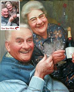 Oil Painting Painting - Anniversary Oil Painting Custom Oil Portrait Based On Your Photo by Les Moments