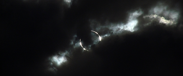 Annular Eclipse Photograph - Annular Eclipse Ring Of Fire 2012 by Scott McGuire