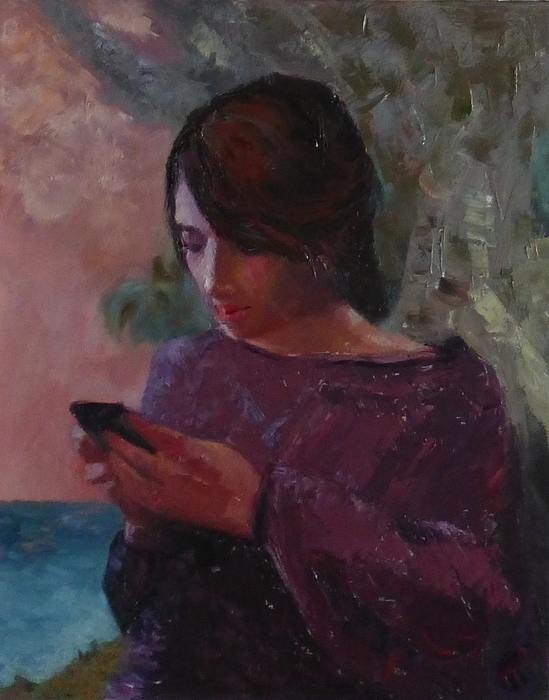 Girl Painting - Anoesis by Irena Jablonski