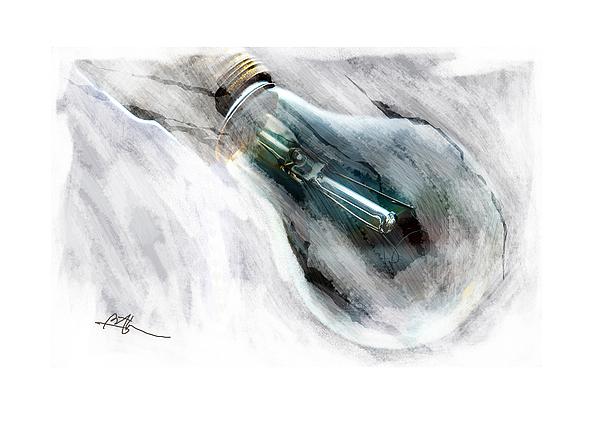 Light Bulb Digital Art - Another Good Idea .... by Bob Salo