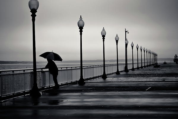 Walk Way Photograph - Another Rainy Day by Girardi Santiago