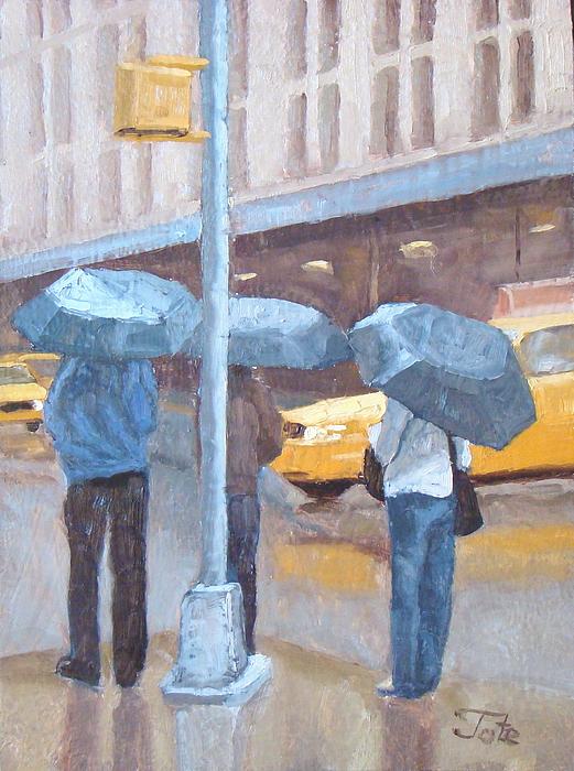 Cityscape Painting - Another Rainy Day by Tate Hamilton