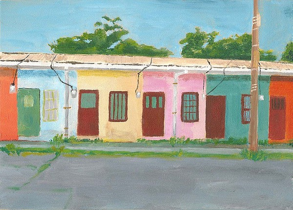 Architecture Painting - Antiquated Housing by Susan Macdonald