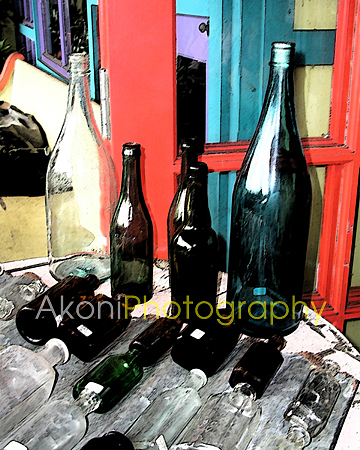 Antique Bottles Photograph by Anthony Valadon