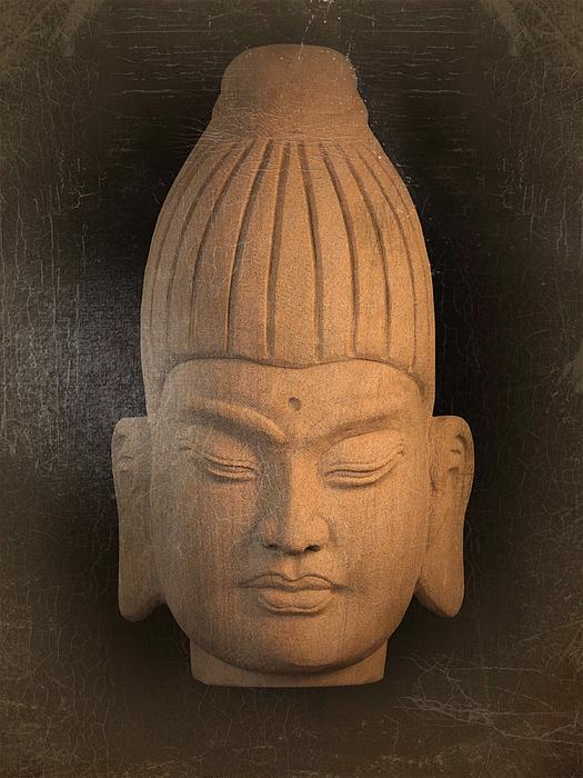Antique Photograph - antique oil effect Buddha Burmese by Terrell Kaucher