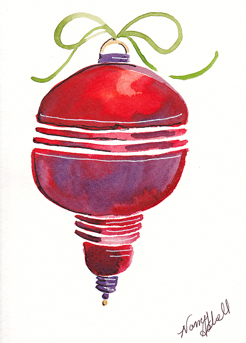 Antique Ornament In Red Painting - Antique Ornament In Red by Michele Hollister - for Nancy Asbell