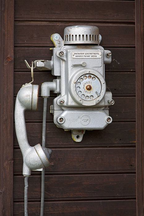 Antique Photograph - Antique Telephone by Jaak Nilson