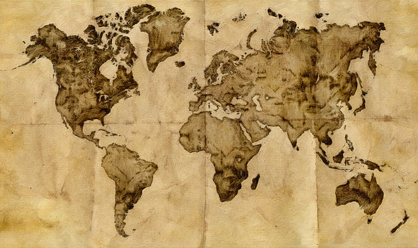 Antique world map painting by radu aldea antique map painting antique world map by radu aldea gumiabroncs Gallery