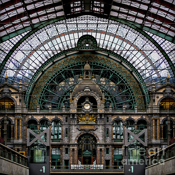 Antwerp Train Station Photograph - Antwerp Train Terminal by Doug Sturgess
