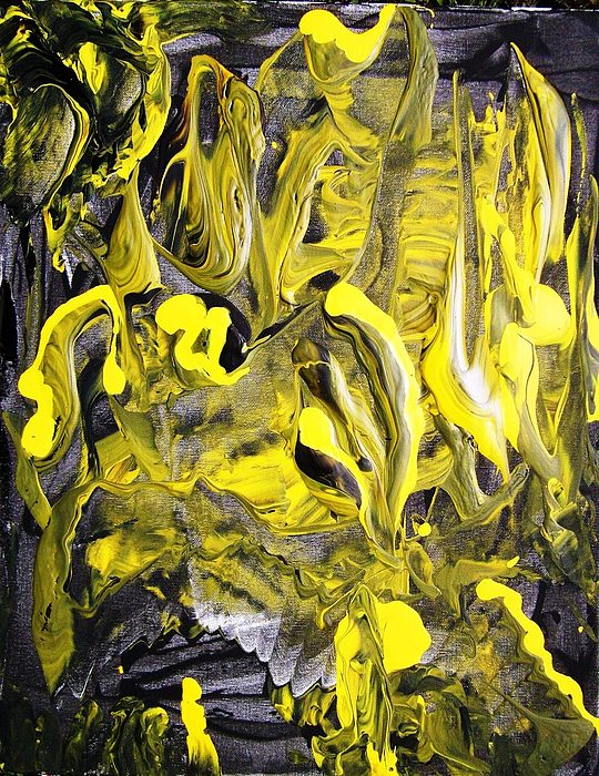 Abstract Painting - Anxiety by Bruce Combs - REACH BEYOND