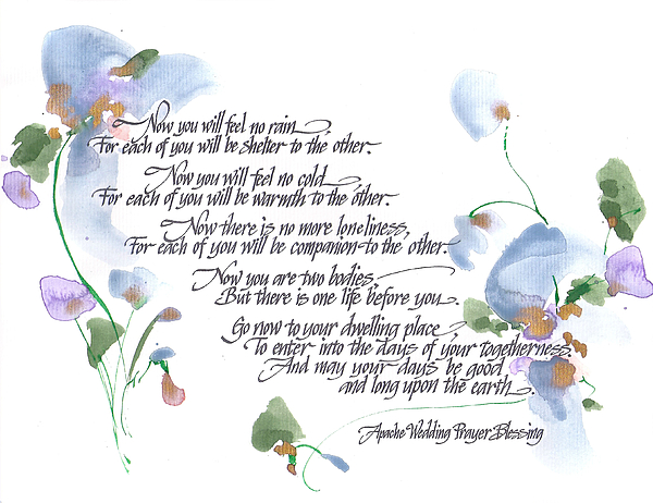Apache Wedding Prayer Blessing Painting By Darlene Flood