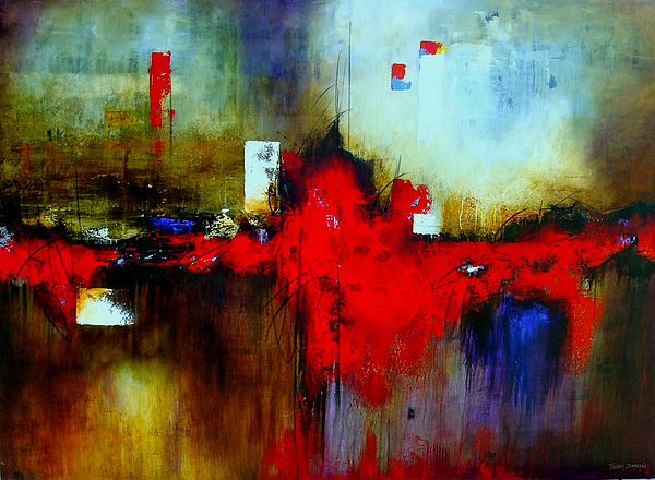Abstract Painting - Apariencias by Thelma Zambrano
