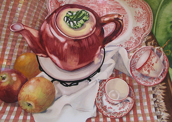 Still Life Painting - Apple Afternoon by Carole Poole