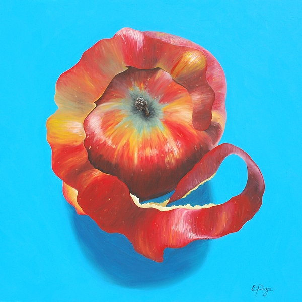 Apple Painting - Apple Twist by Emily Page