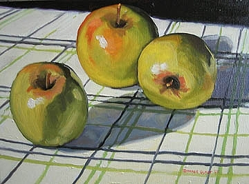 Apples Painting by Margie Guyot