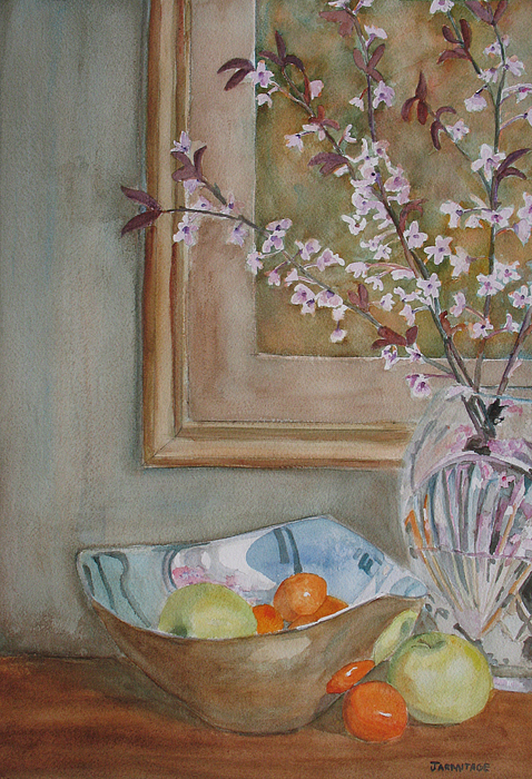 Apples Painting - Apples And Oranges by Jenny Armitage
