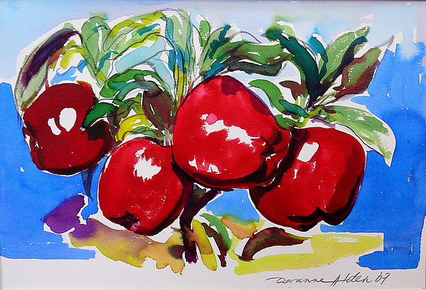 Fruit Painting - Apples by Doranne Alden