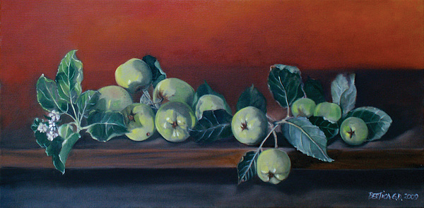 Still Life Painting - Apples From The Farm by Bertica Garcia-Dubus