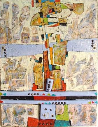 Abstract Mixed Media - Approach 5 by Mahmoud Alhsi