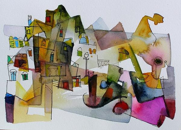 Landscape Painting - Aquarel No32 by Miljenko Bengez