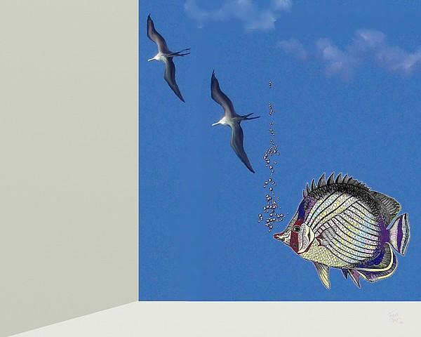 Aquarium Digital Art - Aquarium by Tony Rodriguez