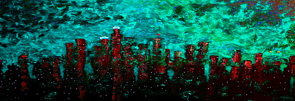 Cityscapes Painting - Aquatic Angel by Chris Haugen