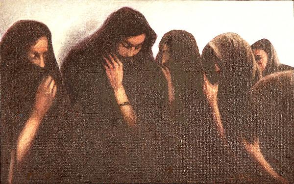 Figures Painting - Arab Women by James LeGros