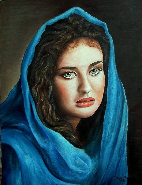 Women paintings celebrities images 1