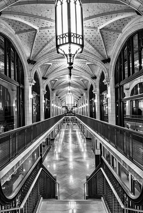 Black And White Photograph - Arcade by Jae Mishra