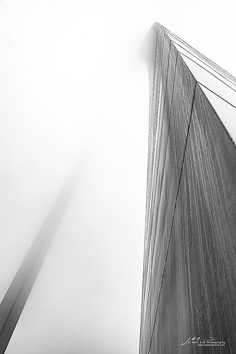 Arch Photograph - Arch In Fog by Jae Mishra