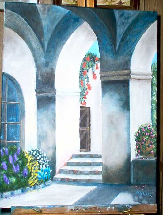 Arches Painting by Nancy Waller