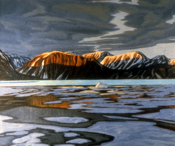 Arctic Landscape Painting - Arctic Ice Breakup by Paul Gauthier