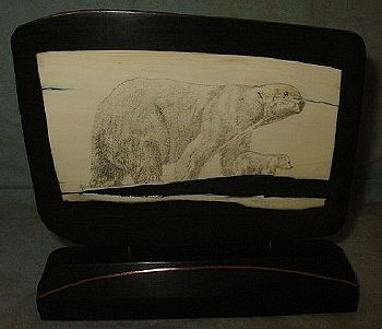 Scrimshaw Mixed Media - Arctic Treasure by Jim Stevens