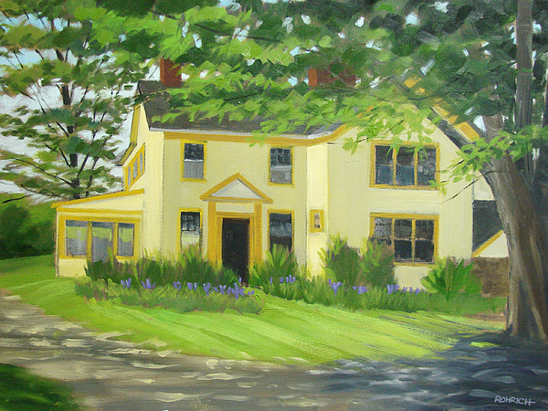 Land Scape Painting - Arden Farm House by Robert Rohrich