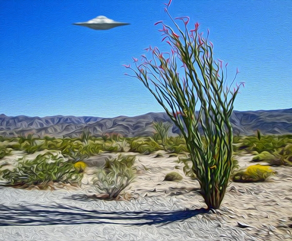 Area 51 Painting - Area 51 U.f.o. Sighting  by Gregory Dyer