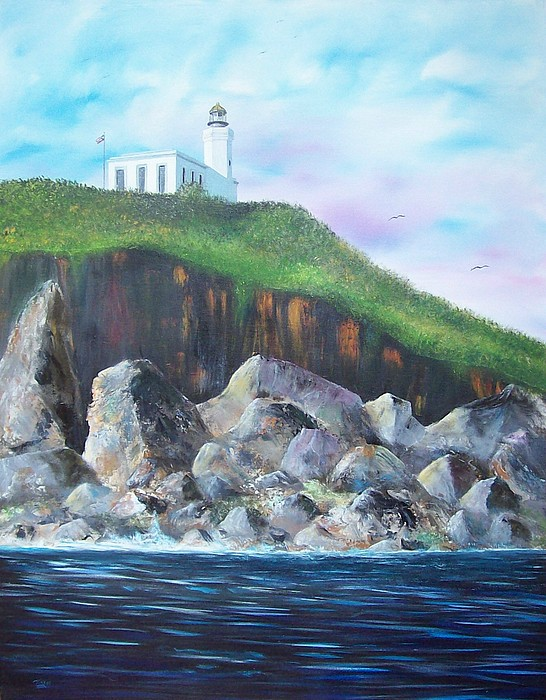 Arecibo Lighthouse Painting - Arecibo Lighthouse by Tony Rodriguez