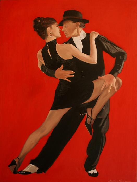 Painting Painting - Argentine Tango by Rosencruz  Sumera