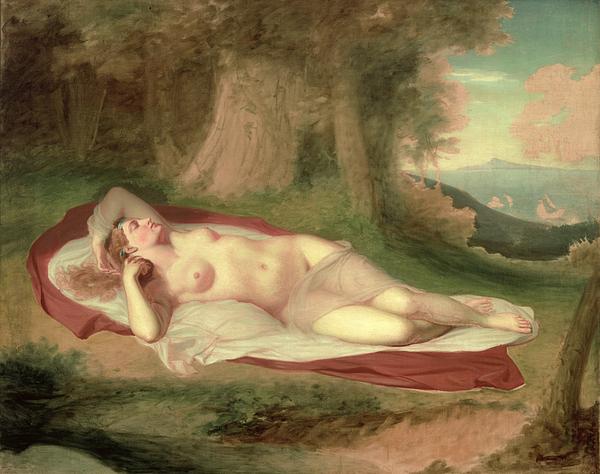 Nude Painting - Ariadne Asleep On The Island Of Naxos by John Vanderlyn
