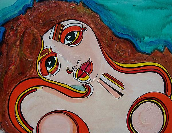 Expressionism Painting - Arial by Valerie Wolf