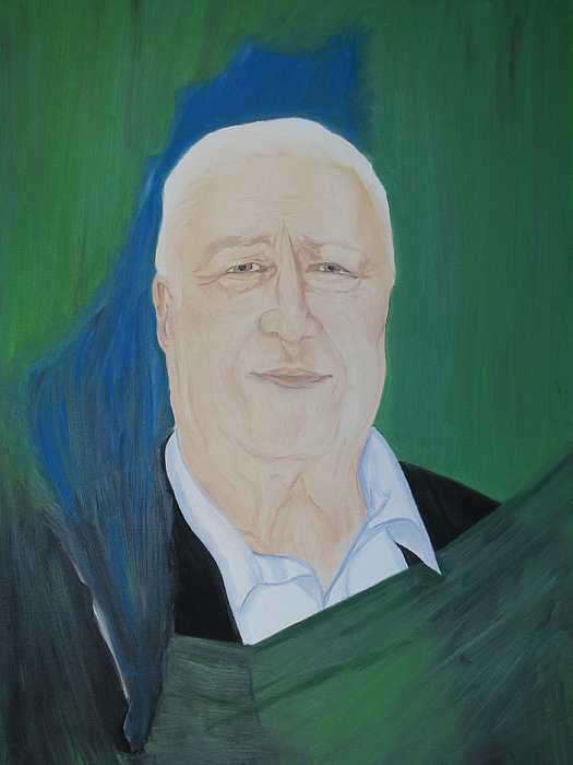 Oil Painting Painting - Ariel Sharon by Svetlana Vinokurtsev